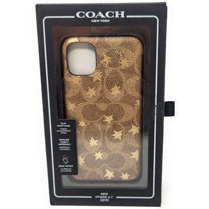 "Coach Leather Wrap Case for iPhone 11 6.1""  Khaki"